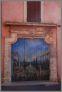 Roussillon - malowidlo na drzwiach