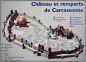 Carcasonne - plan murów miasta