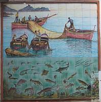 Amalfi - dekoracja sklepu z rybami