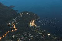 widok z góry na Marina Del Cantone