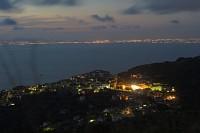 widok z góry na fieste w Capo d`Arco, Sorento i Neapol