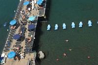 sorrento - kompielisko przy porcie marina piccolo